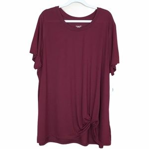 Old Navy Active Go-Dry Knotted Hem Top